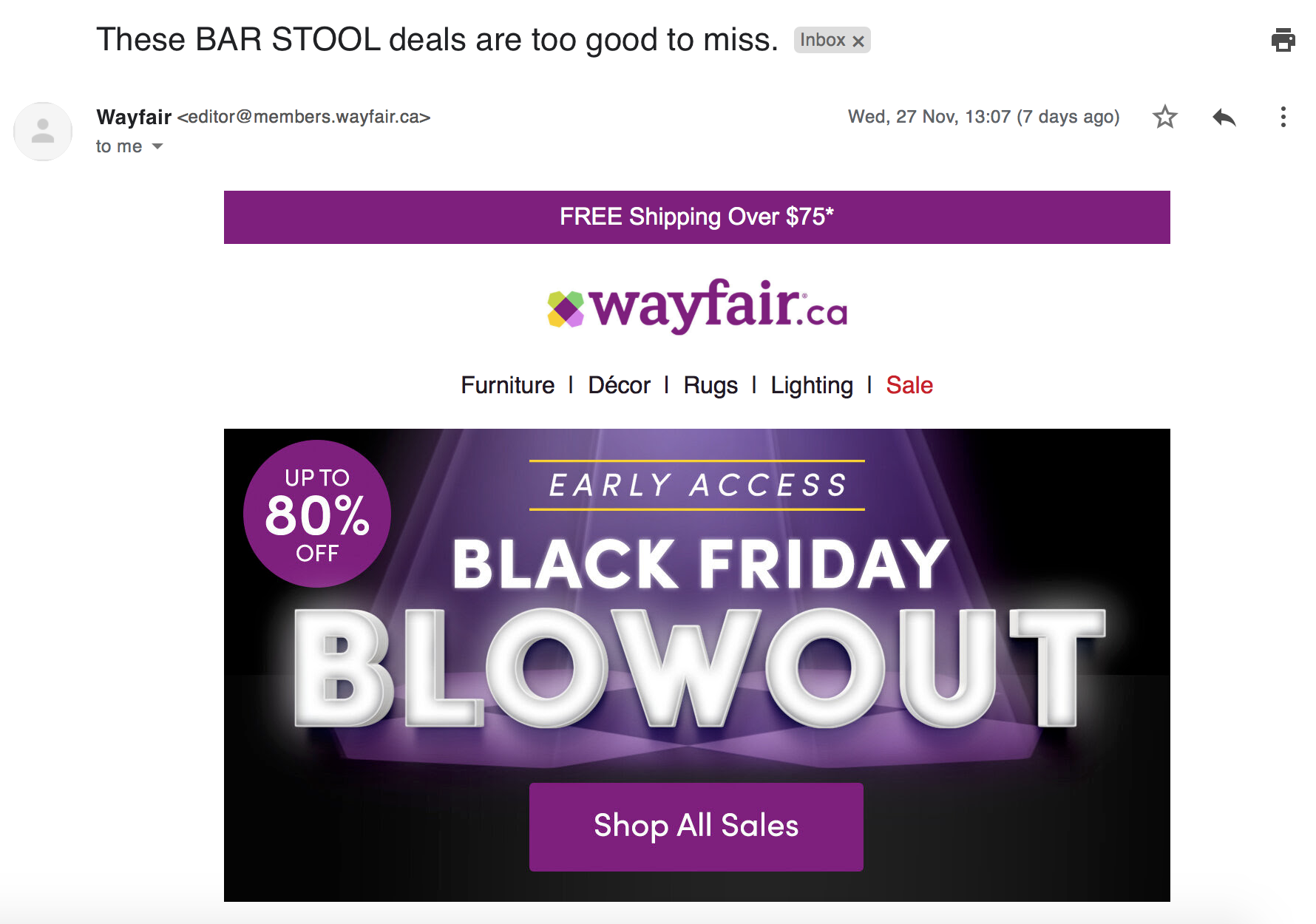 Smart-Targeting-WayFair-Subject-Line