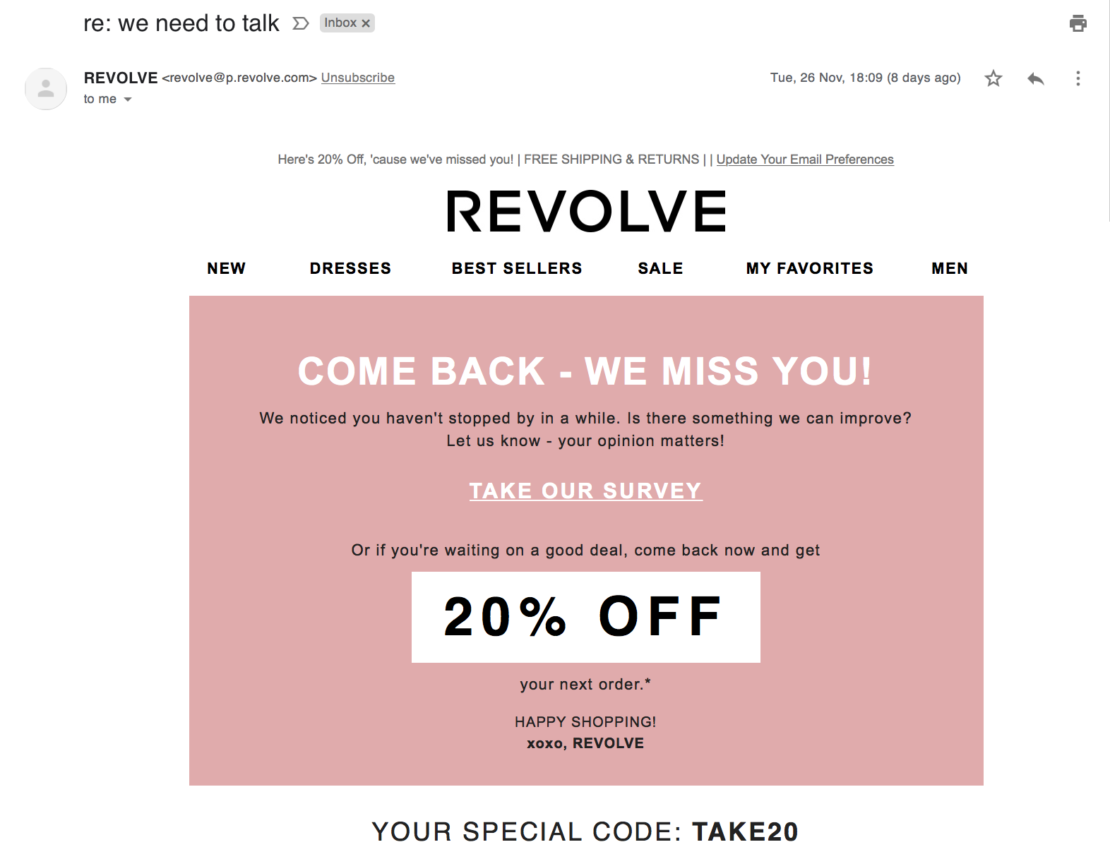 Smart-Targeting-Revolve-Email