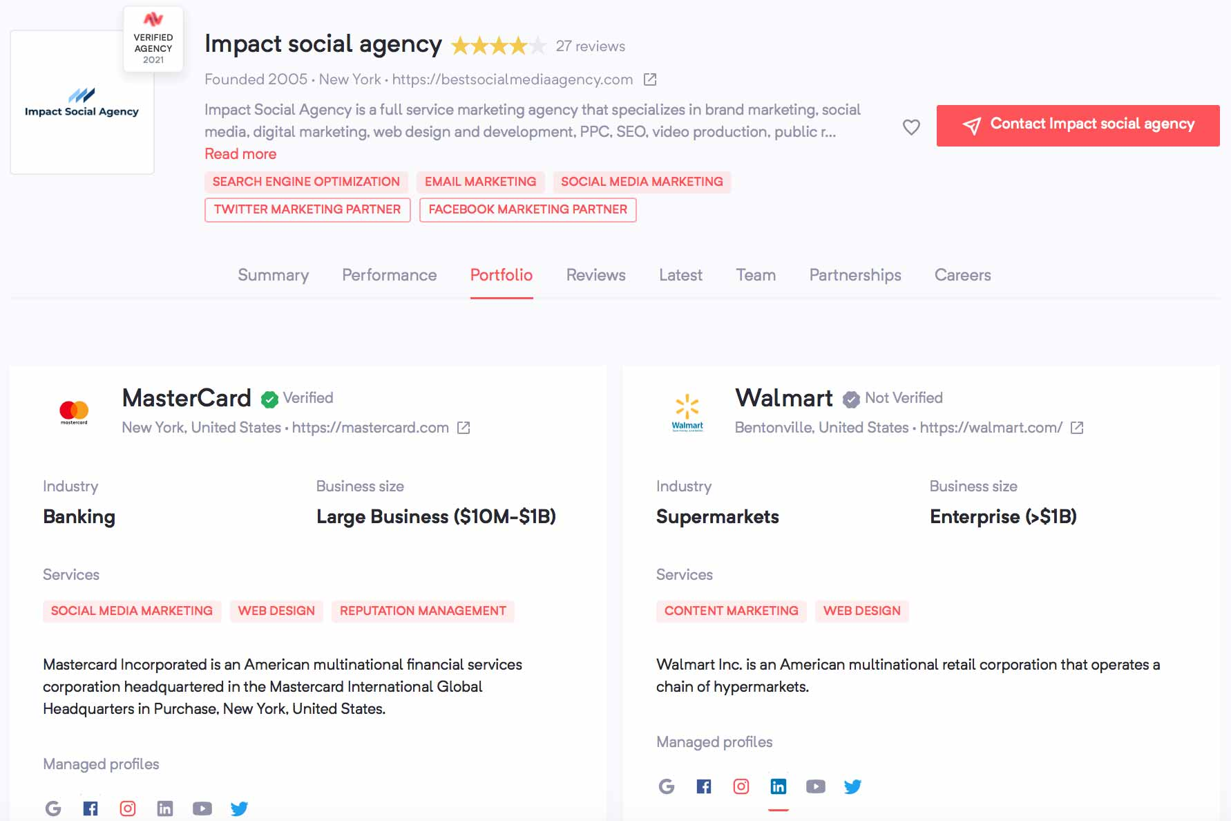 Impact Social Agency Clients | Agency Vista