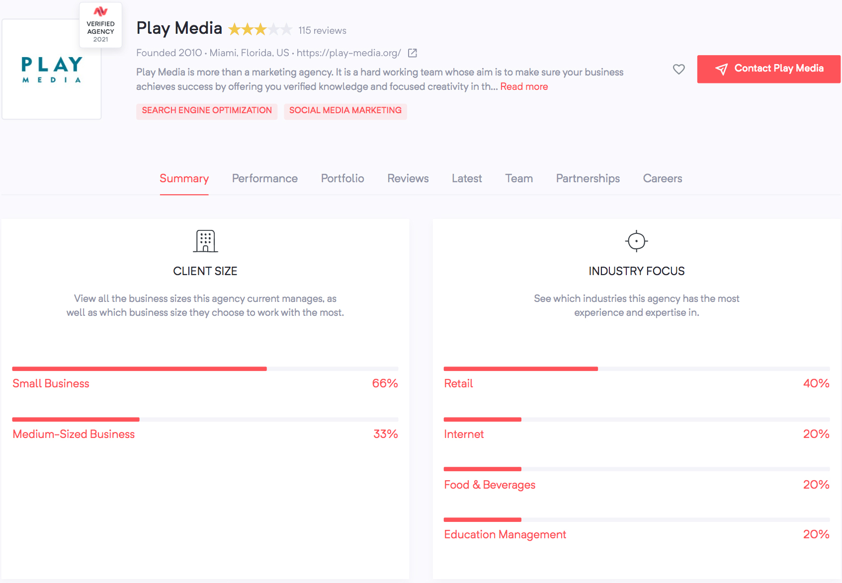 Play Media Profile | Agency Vista