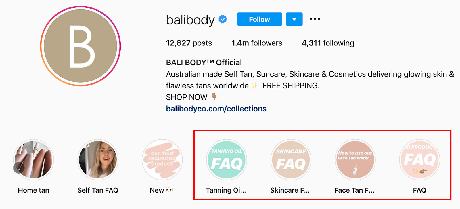 Bali Body Instagram Engagement | Agency Vista