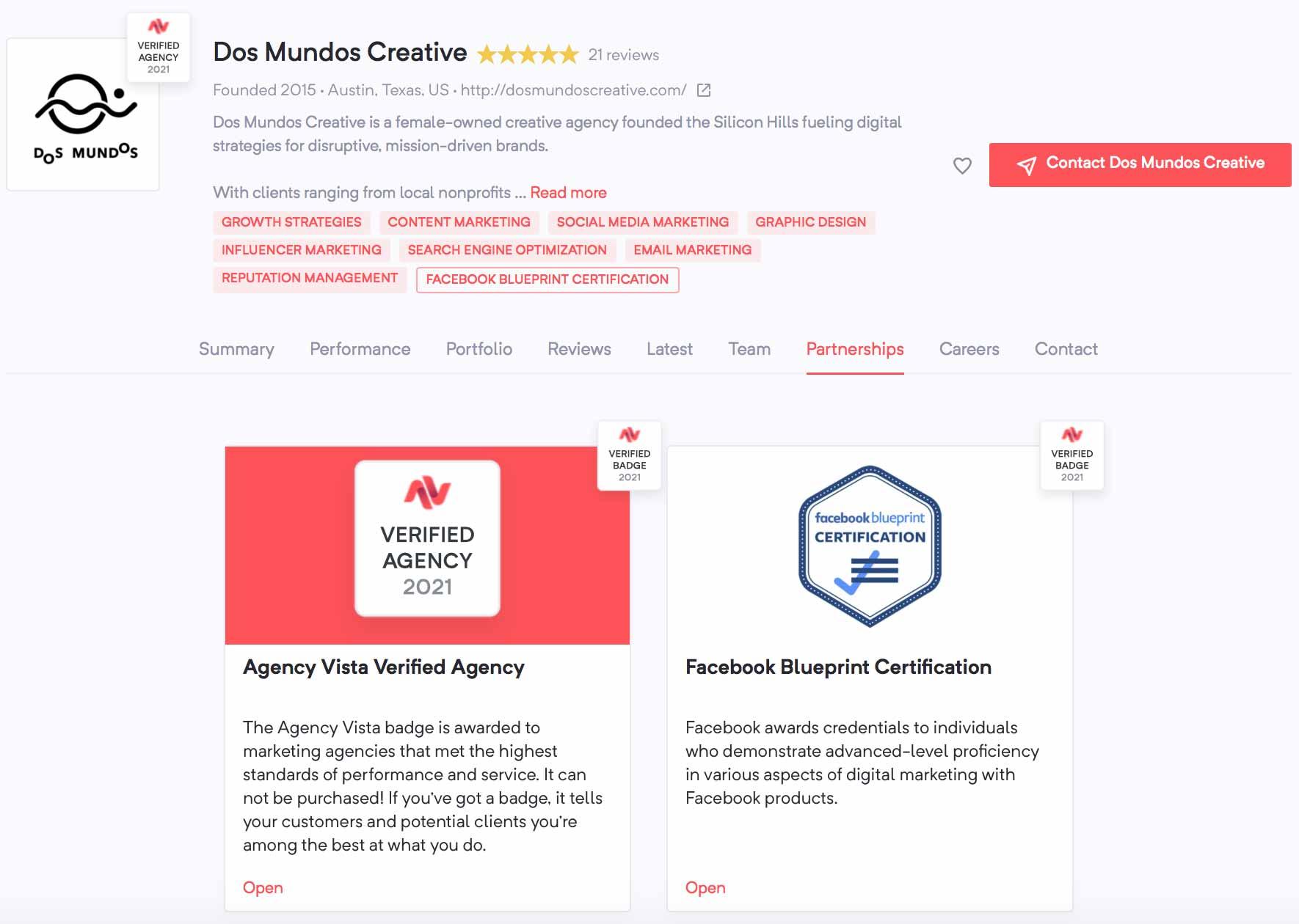 Dos Mundos Creative | Agency Vista
