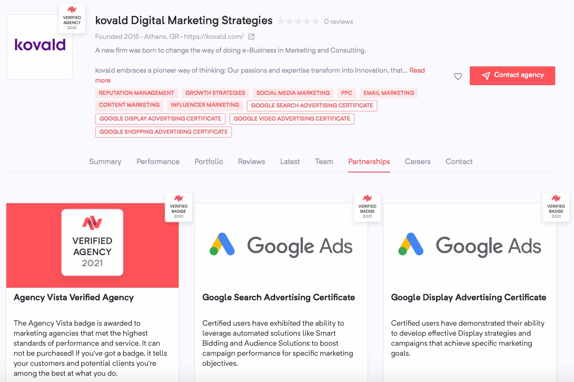 Kovald Digital Marketing Strategies | Agency Vista