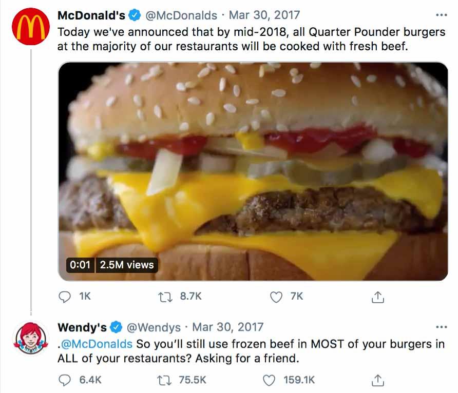McDonalds - Wendys - Relevant Social Media Content - Agency Vista
