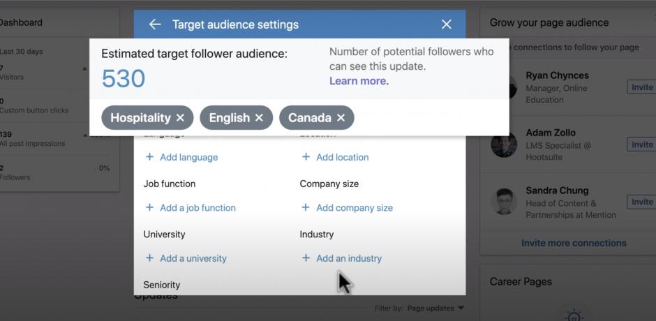 Organic Targeting - LinkedIn | Agency Vista