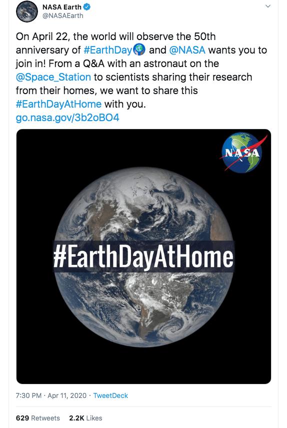 Earth Day Marketing Campaigns: NASA