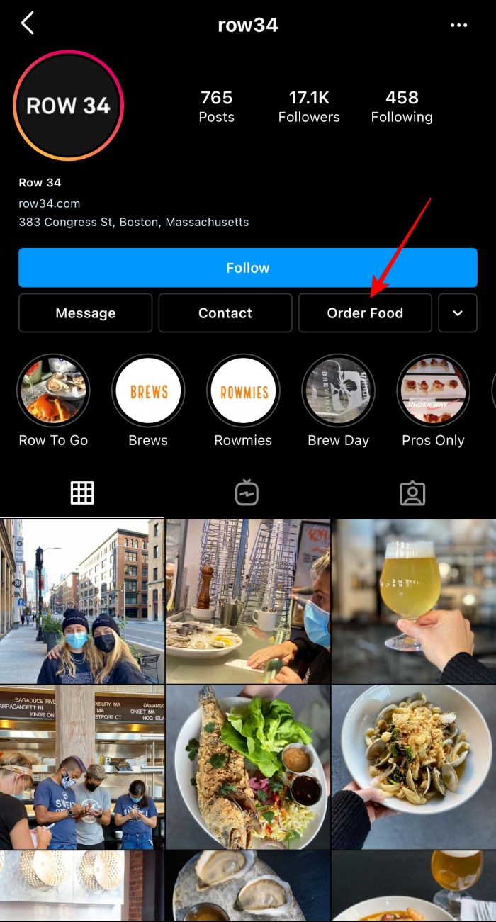 Instagram Feature: CTA Buttons on Business Profile