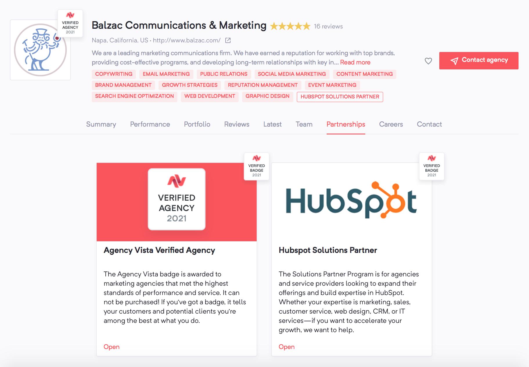 Hiring a Marketing Agency | Balzac Communications & Marketing | Partnerships | Agency Vista