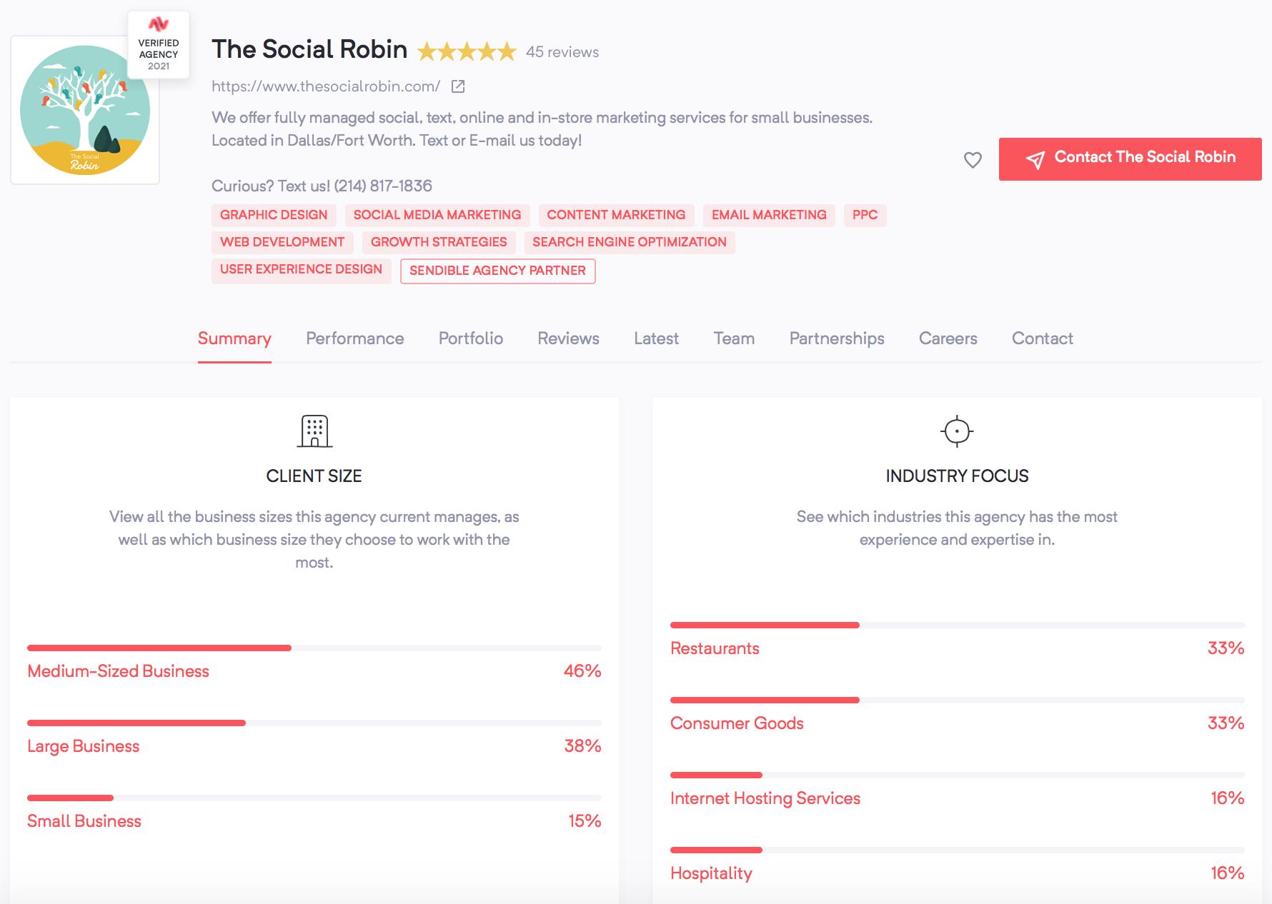 Women-Owned Agencies | The Social Robin | Agency Vista