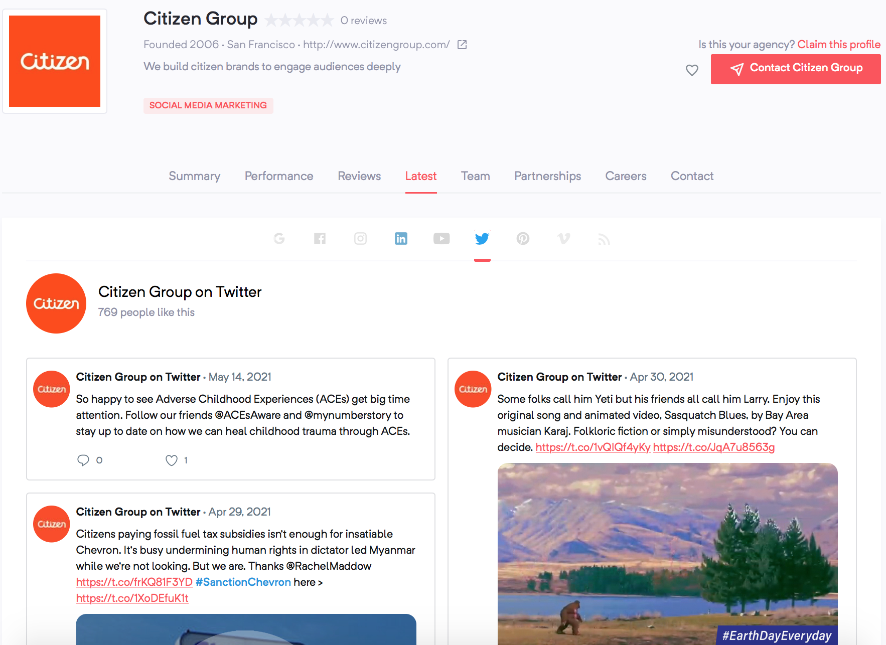 LGBTQ-owned marketing agencies | Citizen Group | Agency Vista