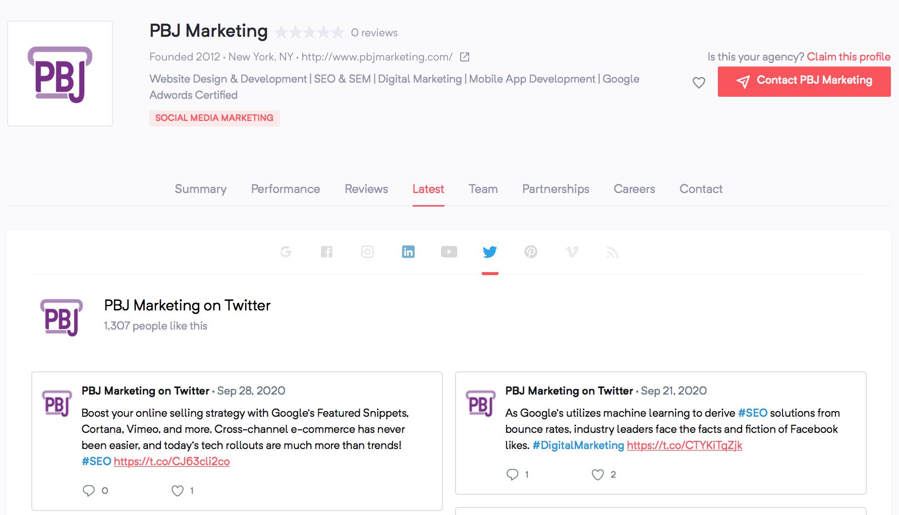 PBJ Marketing | Agency Vista