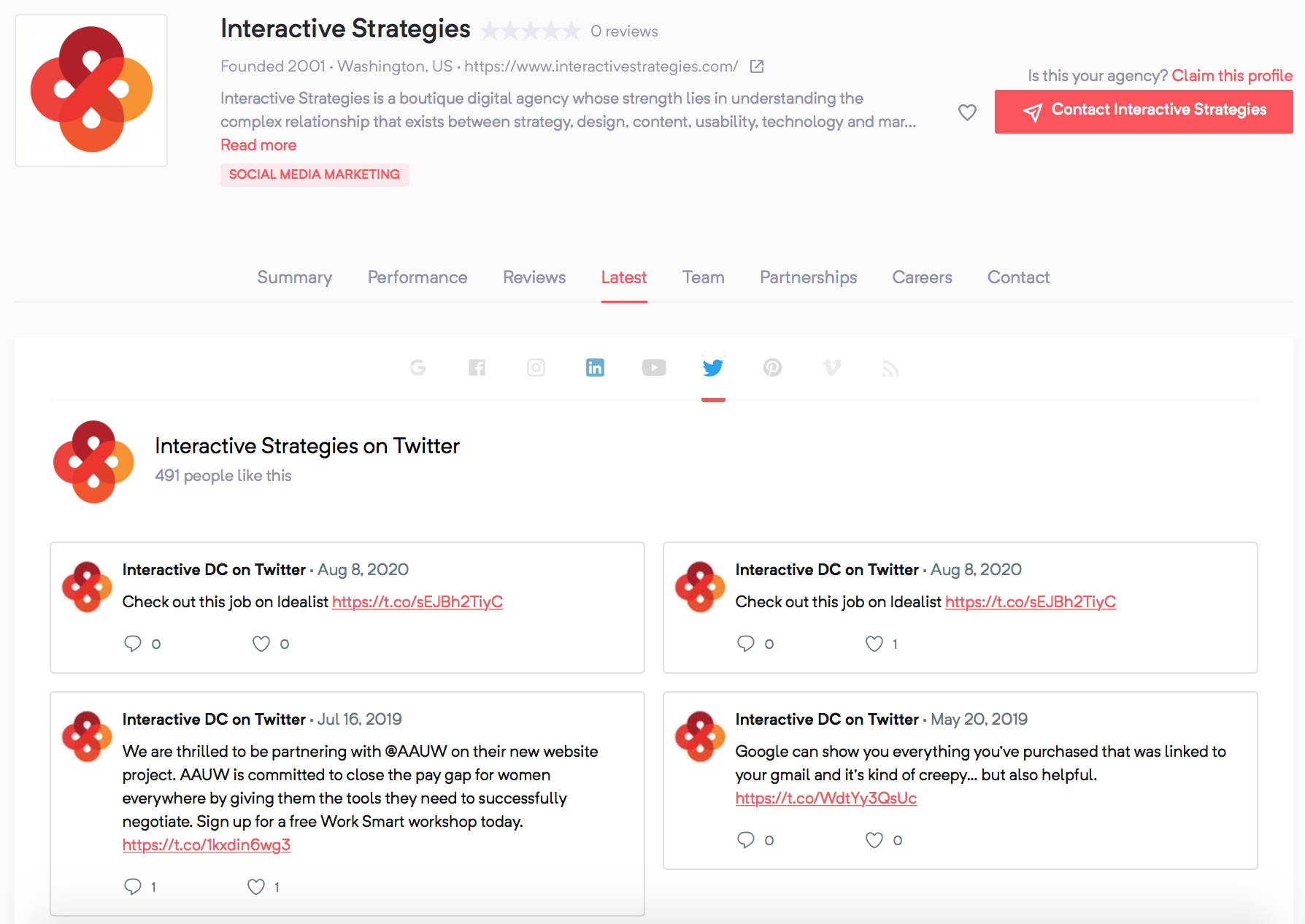 Interactive Strategies | Agency Vista