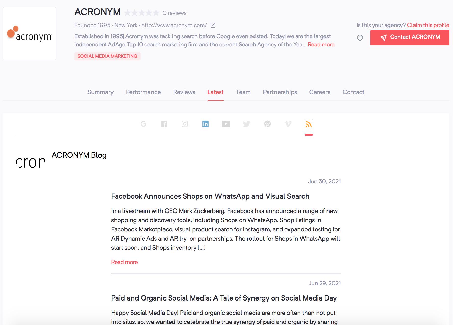 ACRONYM | Agency Vista