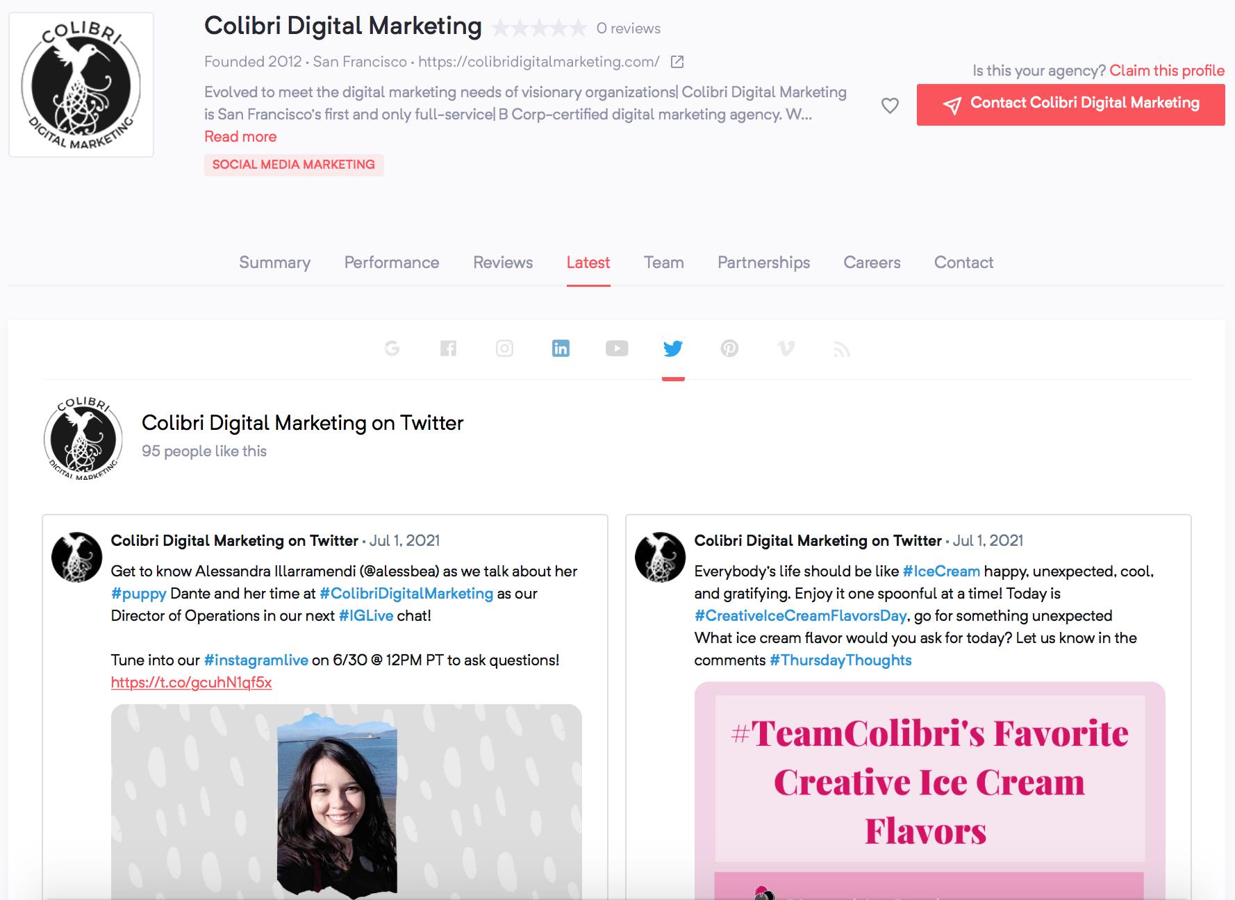 Colibri Digital Marketing | Agency Vista