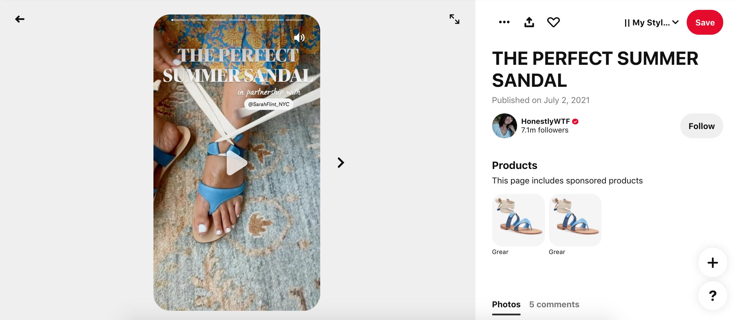 Text Overlay Strategy: HonestlyWTF Pinterest
