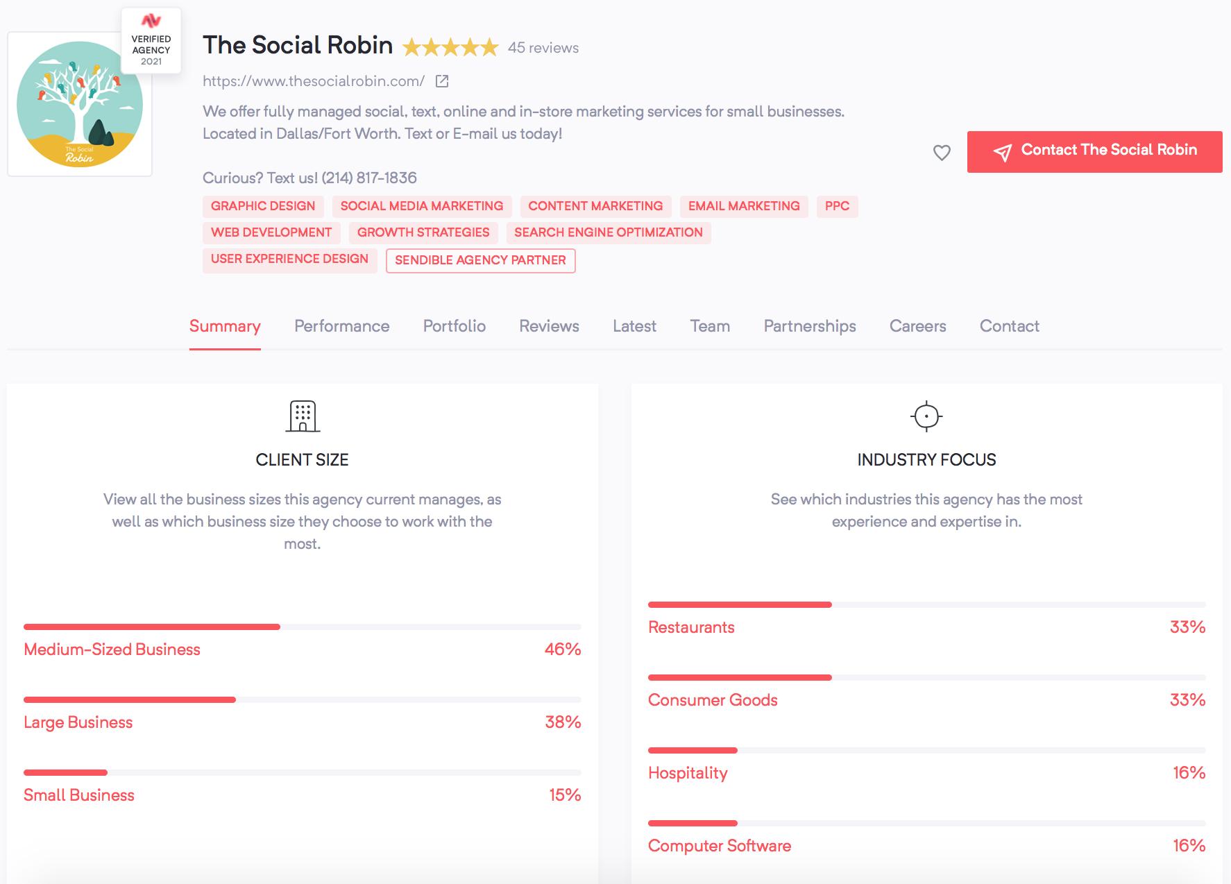 The Social Robin | Agency Vista | Truth-based marketing