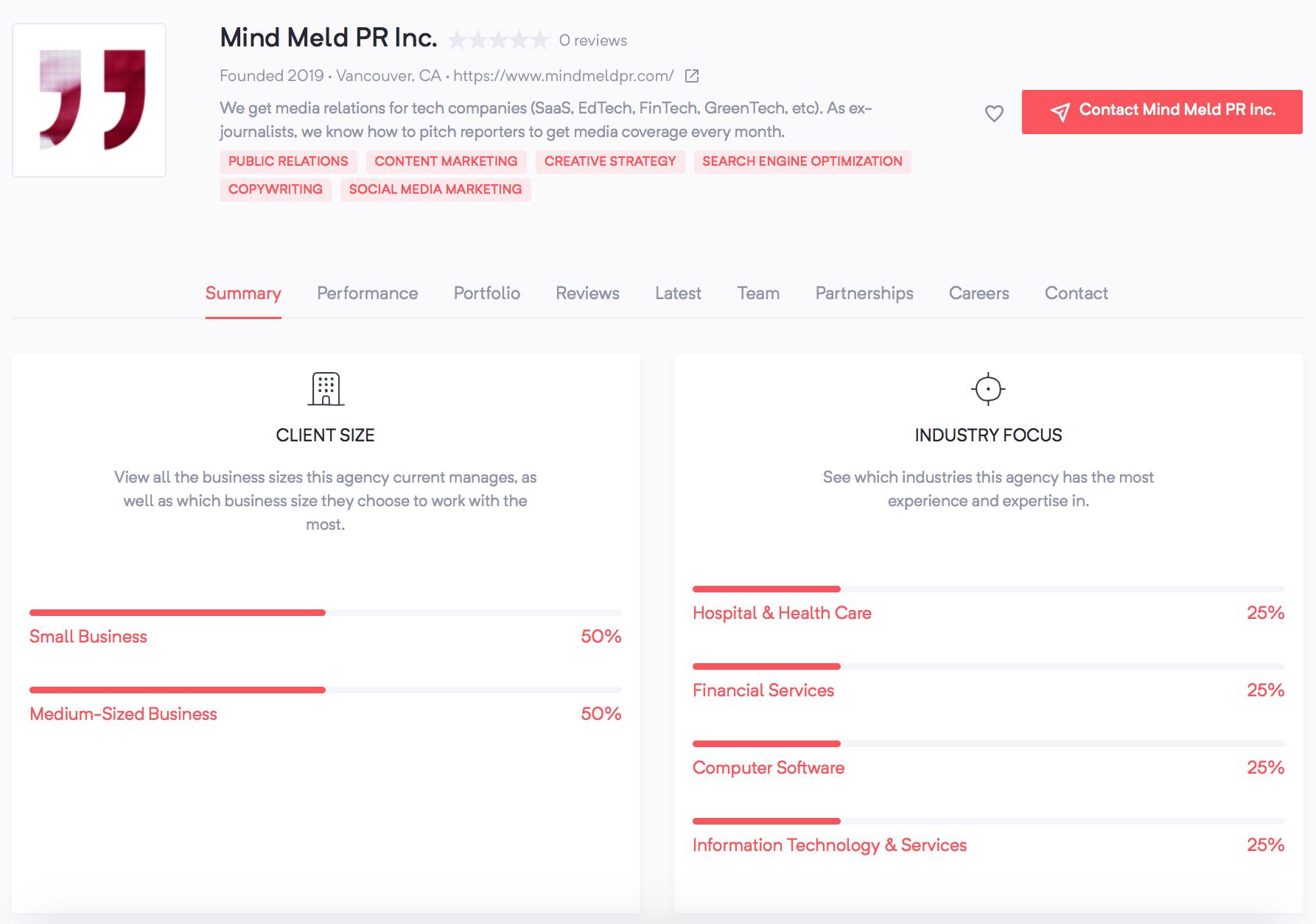 Mind Meld PR | Agency Vista
