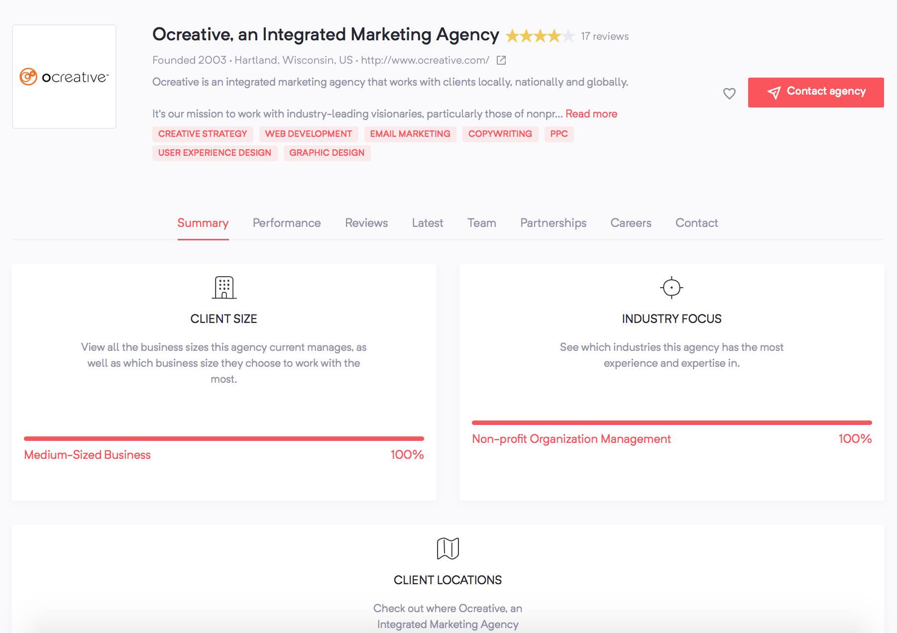 Ocreative - Agency Vista