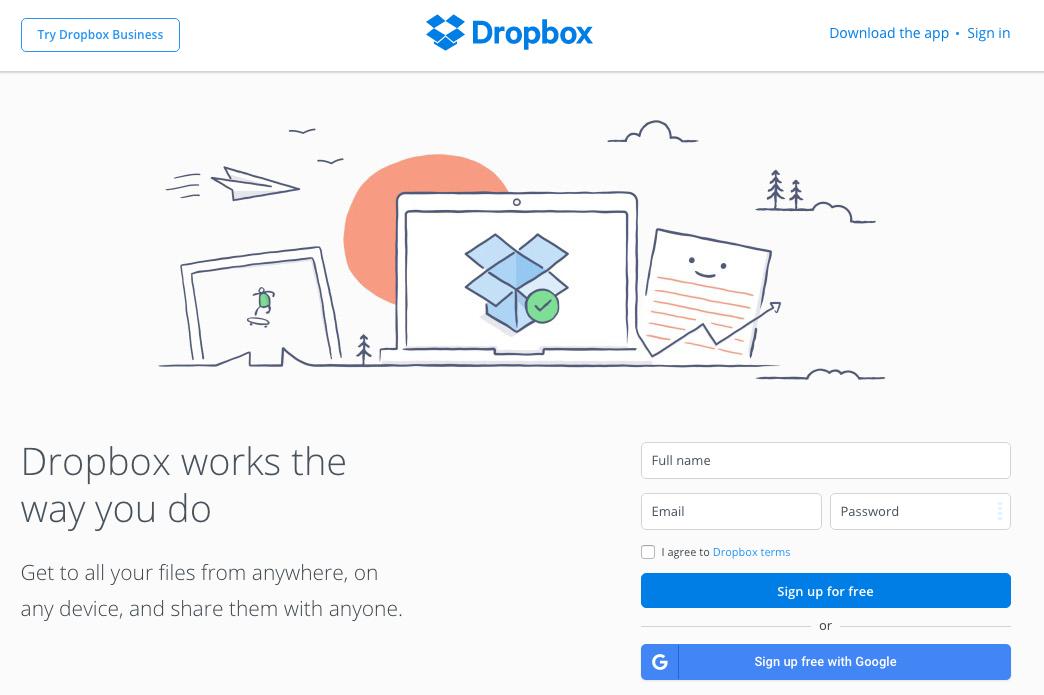 digital marketing call-to-action | Dropbox | Agency Vista
