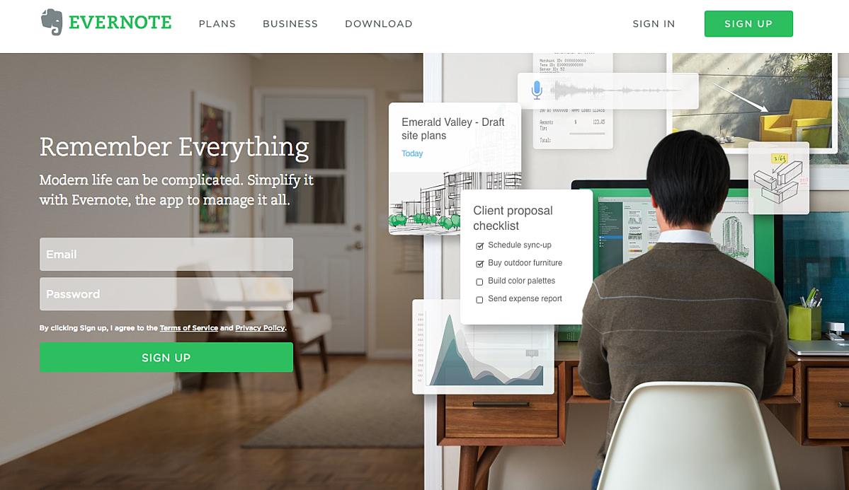 digital marketing call-to-action | Evernote | Agency Vista