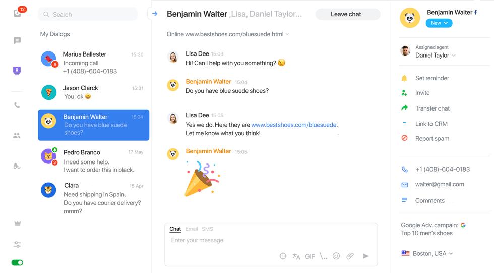 Live Chat Lead Generation: JivoChat