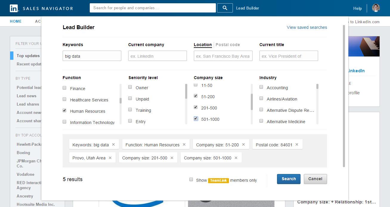 Sales Lead Generation: LinkedIn Sales Navigator