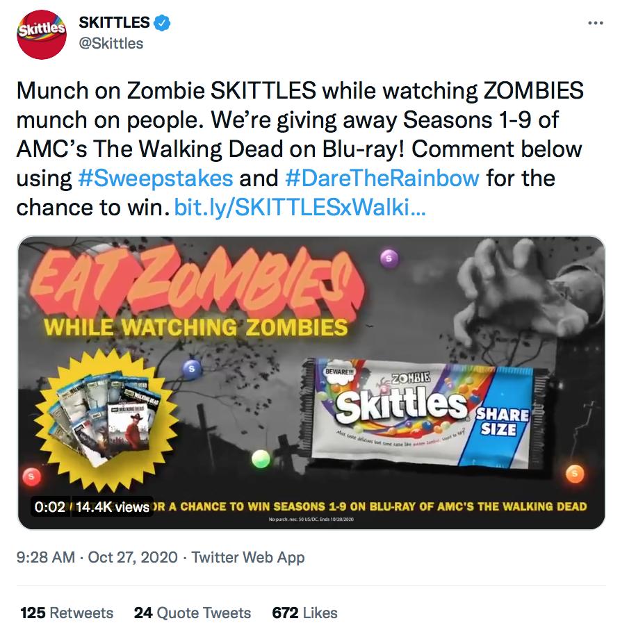 Halloween Social Media Campaign | Skittles x The Walking Dead | Agency Vista