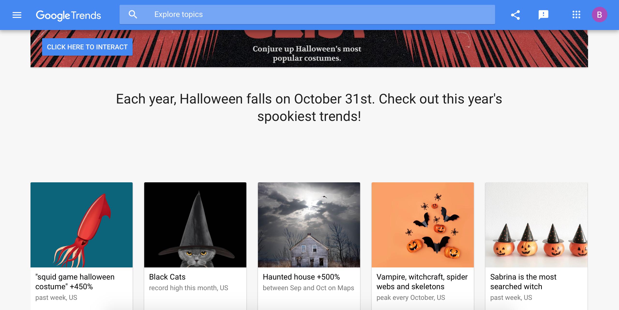 Google Trends | Halloween | Agency Vista