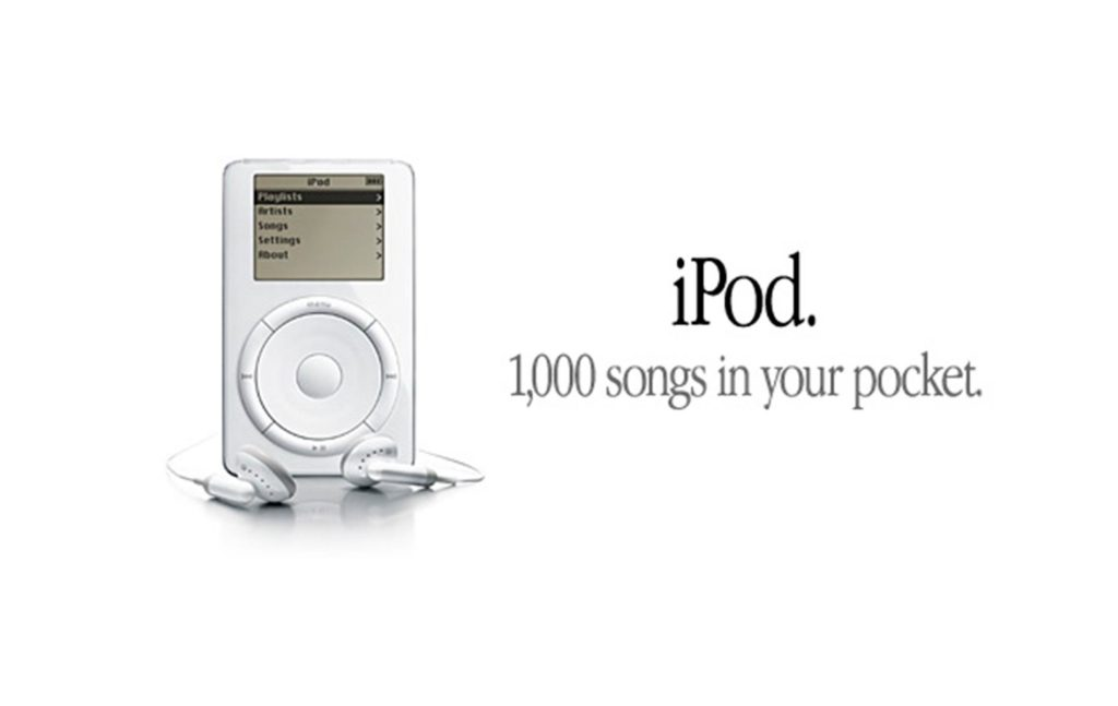 iPod Slogan 1,000 songs in your pocket