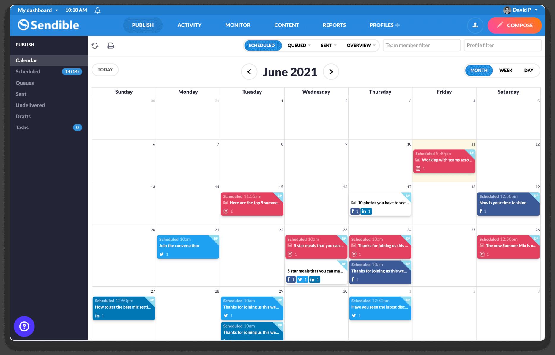 Agency Vista | Sendible | Agency Vista Hub